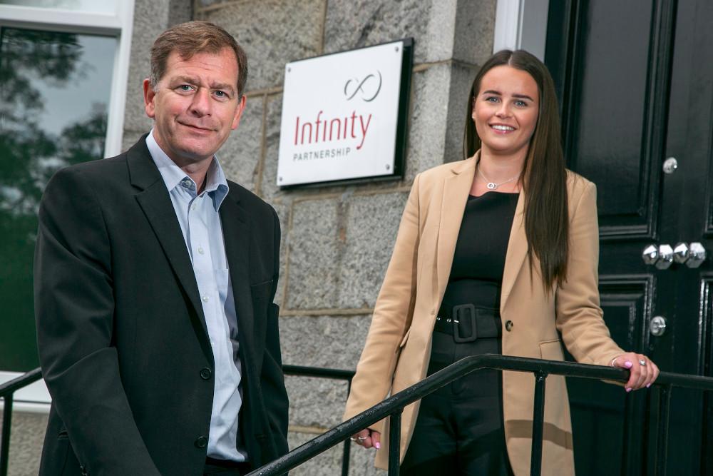 Simon Cowie, managing partner at Infinity Partnership, and Chloe Leslie, senior accounts associate at Infinity Partnership